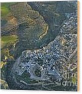 Alhama De Granada From The Air Wood Print