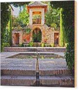 Alhambra In Granada Wood Print