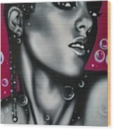 Alicia Keys Wood Print