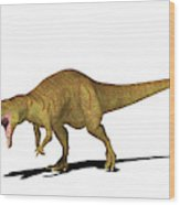 Allosaurus Dinosaur Wood Print