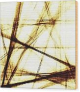 Along These Lines Wood Print