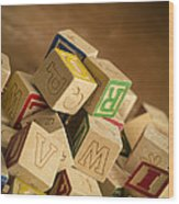 Alphabet Blocks Wood Print