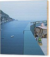 Amalfi Coast In Campania, Italy Wood Print