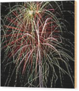 Amazing Fireworks Wood Print by Garry Gay