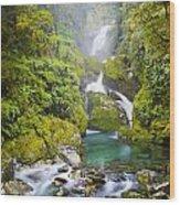 Amazing Waterfall Wood Print