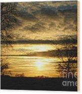 Amber Skys Nine Wood Print