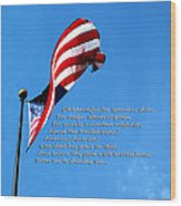 America The Beautiful - Us Flag By Sharon Cummings Song Lyrics Wood Print