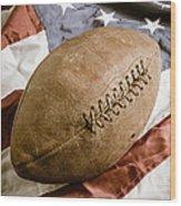 American Football Wood Print