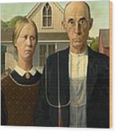 American Gothic Wood Print