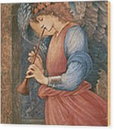An Angel Playing A Flageolet Wood Print