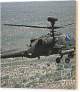 An Apache Ah64d Helicopter Wood Print