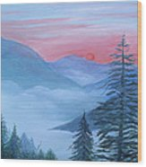 An Appalachian Morning Wood Print by Glenda Barrett