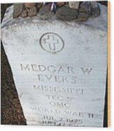 Medgar Evers -- An Assassinated Veteran Wood Print