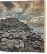 An Evening View Of The Giants Causeway Wood Print
