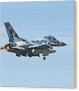 An F-16c Fighting Falcon From 64th Wood Print
