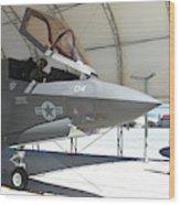 An F-35b Lightning II During Preflight Wood Print