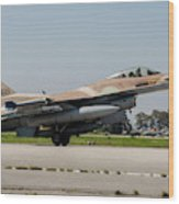 An Israeli Air Force F-16c Wood Print