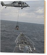 An Mh-60s Sea Hawk Helicopter Delivers Wood Print