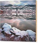 An Okanagan Winter Wood Print