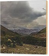 Andean Hills Wood Print