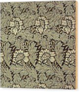 Anemone Design Wood Print by William Morris