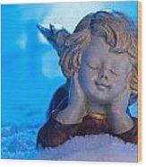 Angel In Snow  Wood Print
