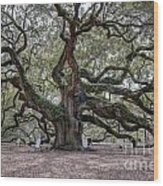 Angel Tree Wood Print