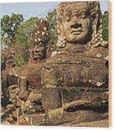 Angkor Thom South Gate Wood Print
