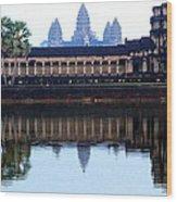 Angkor Wat Reflection Wood Print
