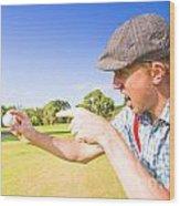 Angry Golf Wood Print