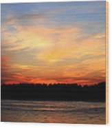 Another Great Day Ends Wood Print