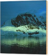 Antarctic Fiord Wood Print