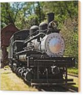 Antique Locomotive Wood Print