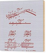 Antique Safety Razor Patent 1912 Wood Print
