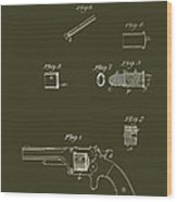 Antique Smith And Wesson Patent For A Metallic Cartridge 1860 Wood Print
