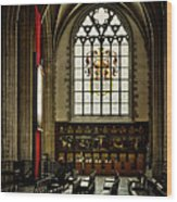 Antwerp Cathedral Wood Print