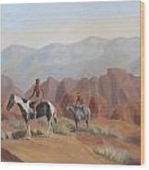 Apache Braves In The Valley Of Fire Wood Print