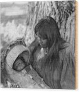 Apache Woman & Child, C1906 1 Wood Print