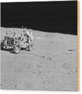 Apollo 16 Lunar Rover Wood Print
