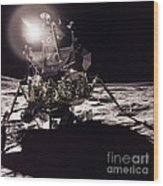 Apollo 17 Moon Landing Wood Print by Science Source