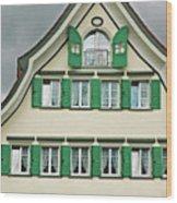 Appenzell Switzerland's Famous Windows Wood Print