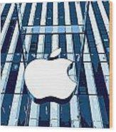 Apple In The Big Apple Wood Print