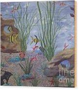 Aquarium Wood Print by Debra Piro