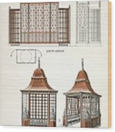 Architecture In Wood, C.1900 Wood Print