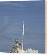 Ares I-x Test Rocket Launch Wood Print
