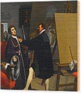 Aretino In The Studio Of Tintoretto Wood Print