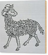 Aries An Illustration From The Poeticon Wood Print