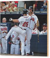Arizona Diamondbacks v Atlanta Braves Wood Print