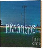 Arkansas Wood Print