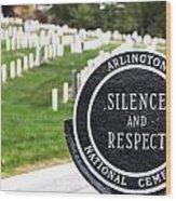 Arlington National Cemetery Part 1 Wood Print